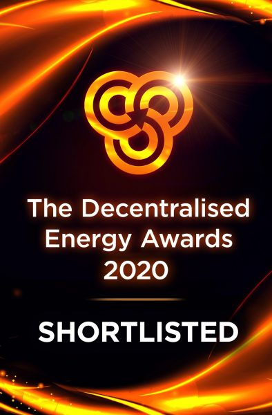 Shortlisted at the 2020 Decentralised Energy Awards